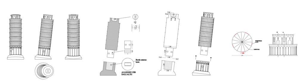 descrizione tecnica penna usb torre di Pisa