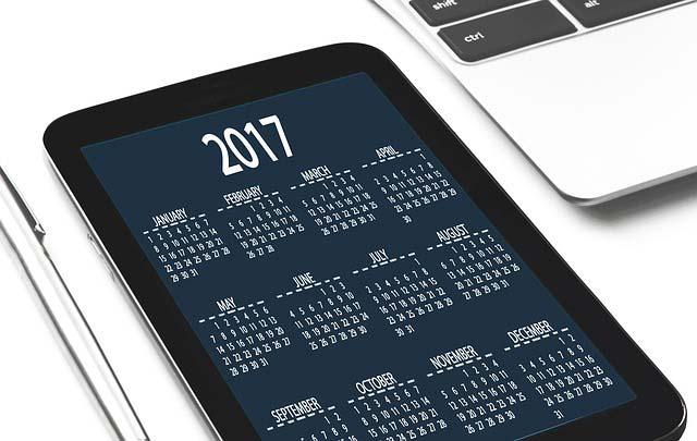 schermo calendario 2017